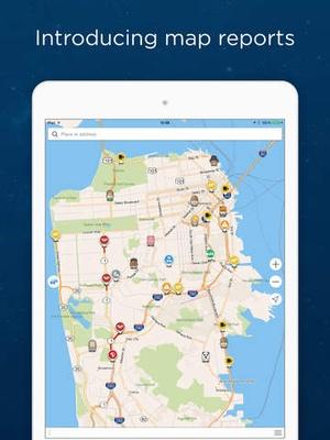 Screenshot Navmii GPS France: Navigation, Maps and Traffic (Navfree GPS) on iPad
