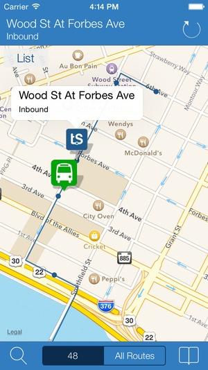 Screenshot Transit Stop on iPhone
