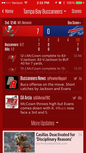 Screenshot Team Stream on iPhone