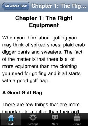 Screenshot All About Golf on iPhone