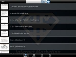 Screenshot Internet Marketing Income PRO on iPad