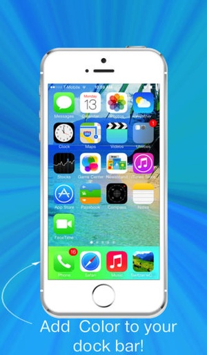 Screenshot Pixoram Wallpaper Overlays for Color Docks on iPhone