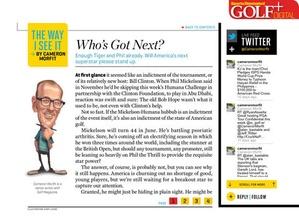 Screenshot Sports Illustrated Golf+ Digital on iPad