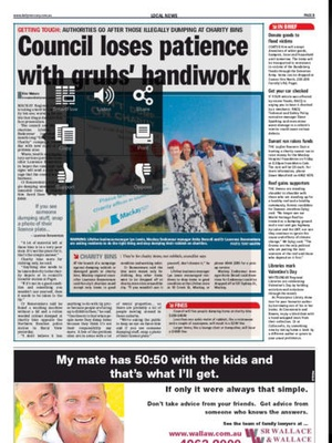 Screenshot Daily Mercury Mackay on iPad