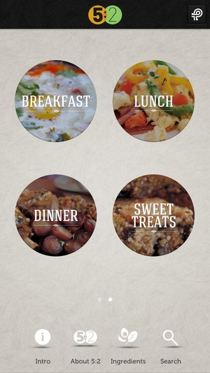 Screenshot 5:2 Fasting Diet Recipes on iPhone