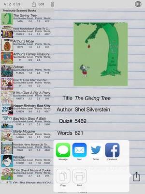 Screenshot BookScanner App on iPad