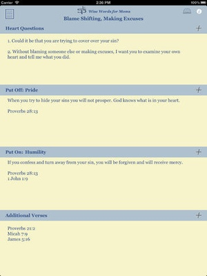 Screenshot Wise Words for Moms on iPad