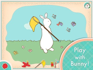 Screenshot Pat the Bunny on iPad