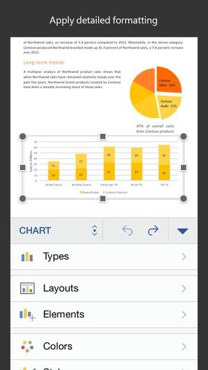 Screenshot Microsoft Word on iPhone