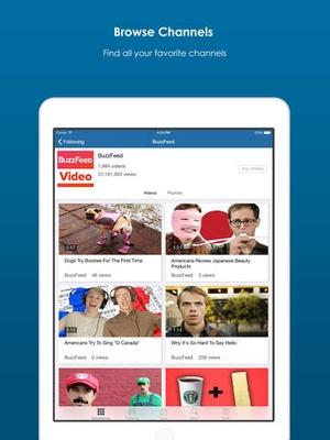 Screenshot dailymotion on iPad