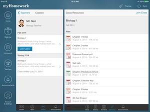 Screenshot myHomework Student Planner on iPad