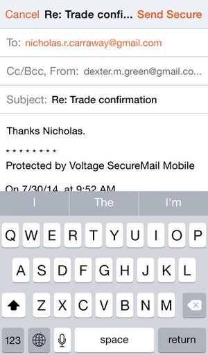Screenshot Voltage Mail on iPhone