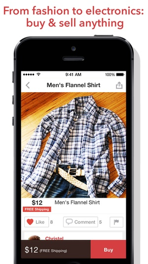 Screenshot Mercari: Anyone can buy & sell on iPhone