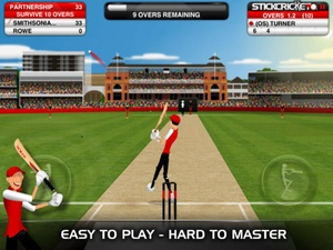 Screenshot Stick Cricket Partnerships on iPad