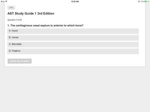 Screenshot AST Study Guide 3rd Edition on iPad