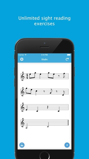 Screenshot Sight Reading Machine on iPhone