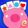 Kids Card Matching Educational Shapes and Color Learning Game for Toddlers