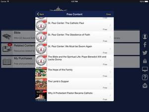 Screenshot Catholic Study Bible App Ignatius on iPad