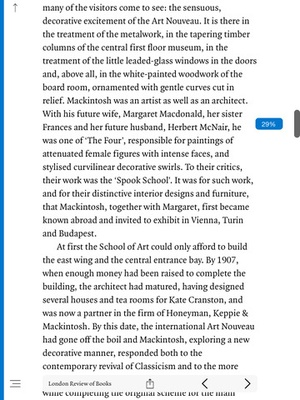 Screenshot London Review of Books on iPad