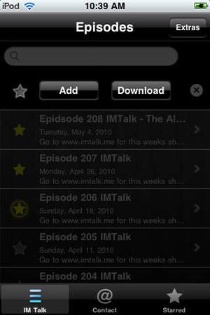 Screenshot IMTalk on iPhone