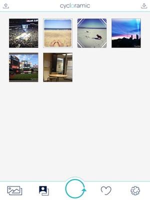 Screenshot Cycloramic for iPhone 5/5S on iPad