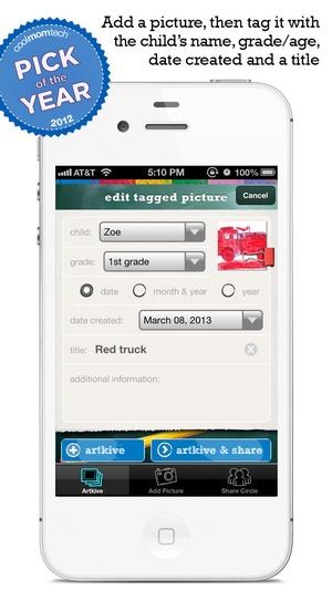 Screenshot Artkive on iPhone
