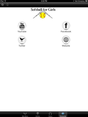 Screenshot Softball for Girls the Fundamentals of Softball on iPad