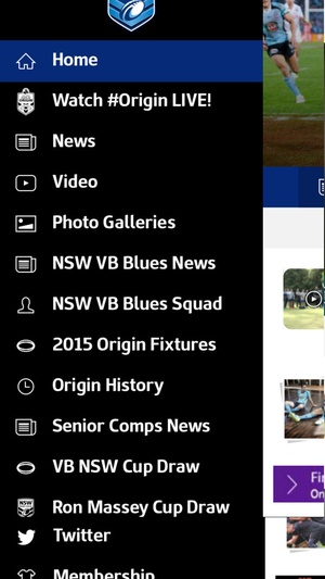 Screenshot Official 2015 NSW Rugby League on iPhone