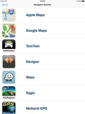 Screenshot Go gps app for navigators on iPad