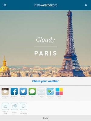 Screenshot InstaWeather on iPad