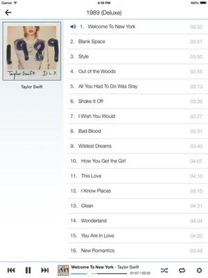 Screenshot Cloud Play for Google Music All Access on iPad