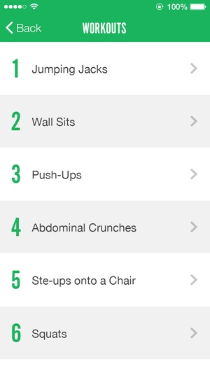 Screenshot 7 Minute Fitness on iPhone