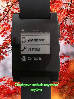 Screenshot Contacts for Pebble Smartwatch on iPad