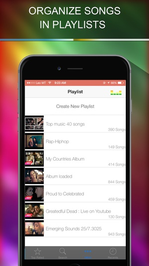 Screenshot Music Playlist manager on iPhone