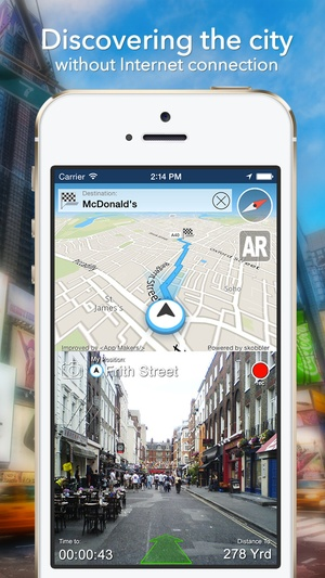 Screenshot Kiev Offline Map + City Guide Navigator, Attractions and Transports on iPhone
