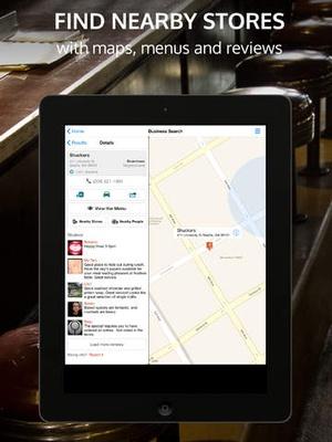 Screenshot Whitepages on iPad