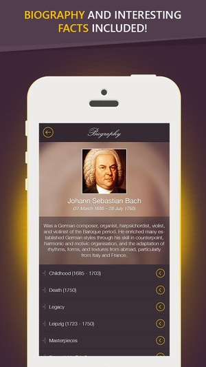 Screenshot Bach on iPhone