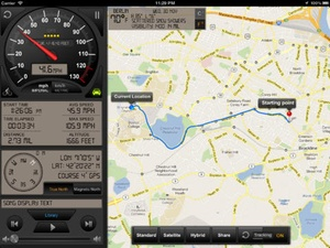 Screenshot Speedometer GPS+ (Car speedometer, Bike cyclometer) on iPad