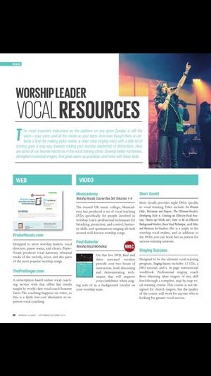 Screenshot Worship Leader Magazine on iPhone