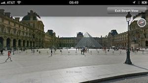Screenshot Google Earth on iPhone