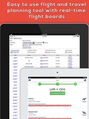 Screenshot Sydney SYD Airport. Flights, car rental, shuttle bus, taxi. Arrivals & Departures. on iPad