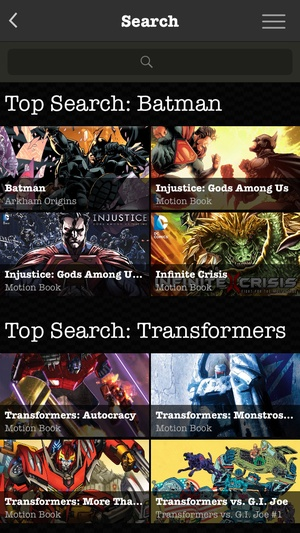 Screenshot Madefire Comics & Motion Books on iPhone