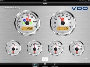 Screenshot VDO Gauges2Go on iPad