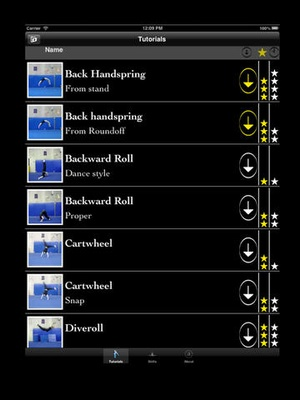 Screenshot The Trick List on iPad