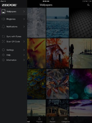 Screenshot ZEDGE™ Ringtones & Wallpapers on iPad