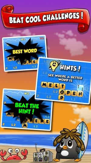Screenshot Word Chums on iPhone