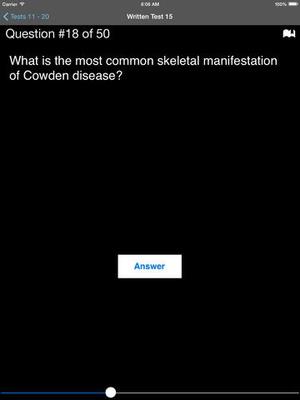 Screenshot Dermatology Board Review Q & A on iPad