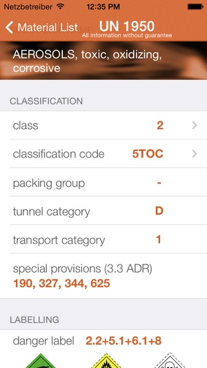 Screenshot iTruck Tourmanager Europe on iPhone