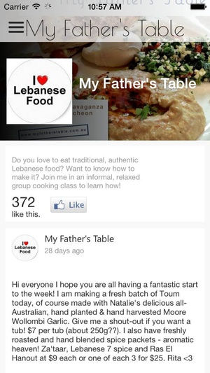 Screenshot My Father's Table on iPhone