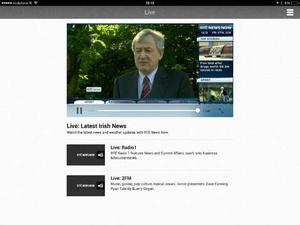 Screenshot RTÉ News Now on iPad